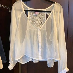 NWT Lucy Love Sheer Blouse